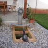 Brunnen Edelstahl Holz