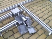 Abwasser-Rinnen-System aus Edelstahl