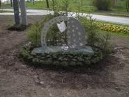 Edelstahl-Skulptur