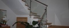 Stiegengeländer mit Glas und Edelstahl