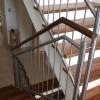 Stiegengeländer mit Holz